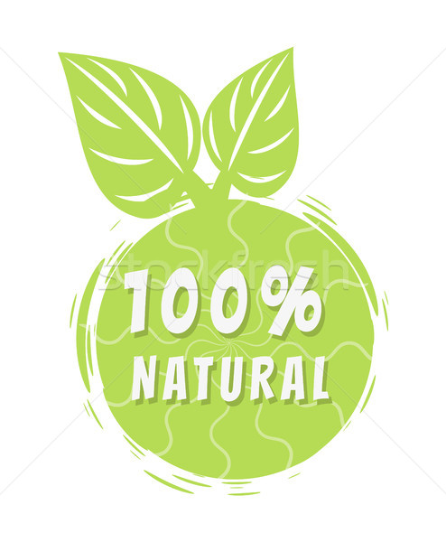 Jeden sto procent naturalnych wielobarwny banner Zdjęcia stock © robuart