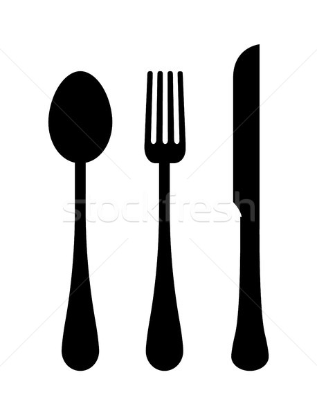 Three Templates of Cutlery Vector Illustration Stock photo © robuart