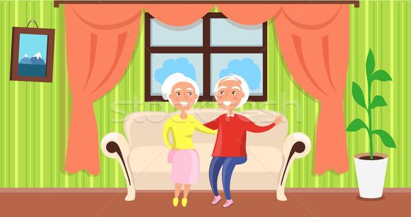 Abuelos día anunciante maduro marido esposa Foto stock © robuart