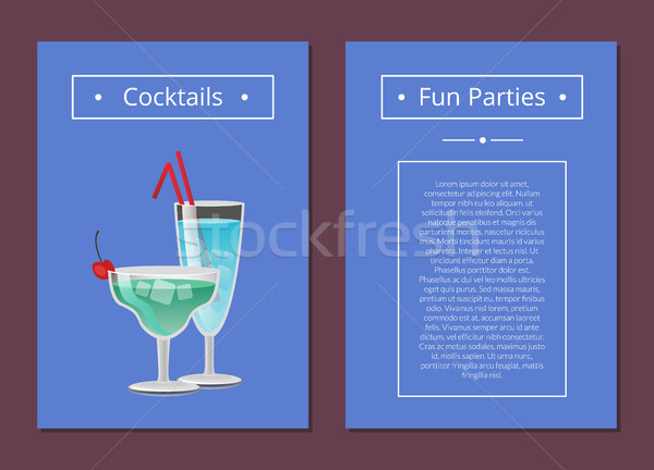 Cocktail Fun Parties Classic Summer Alcohol Drinks Stock photo © robuart