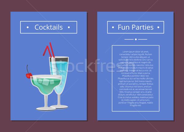 Cocktail Spaß Parteien Sommer Alkohol Stock foto © robuart