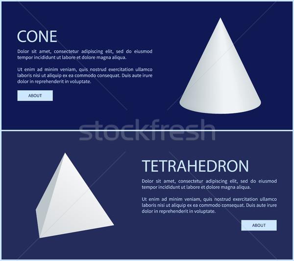 Prisme géométrique cône web affiches Photo stock © robuart