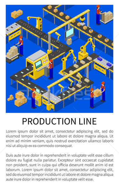 Production Line Abstract Scheme of Modern Factory Stock photo © robuart