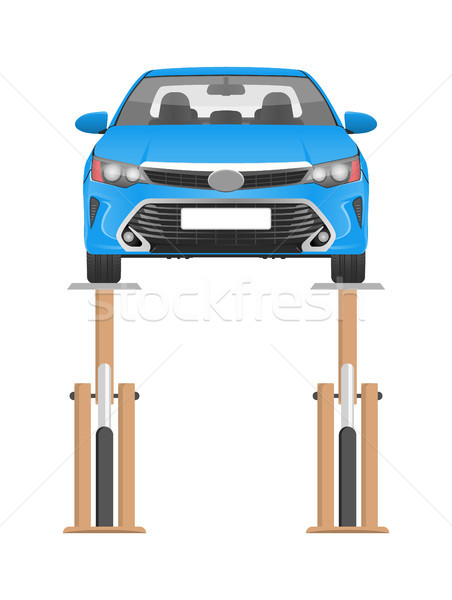 Modern Vehicle on Technical Inspection Color Card Stock photo © robuart