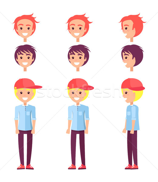 Teenagers Set Constructor, Vector Illustration Stock photo © robuart
