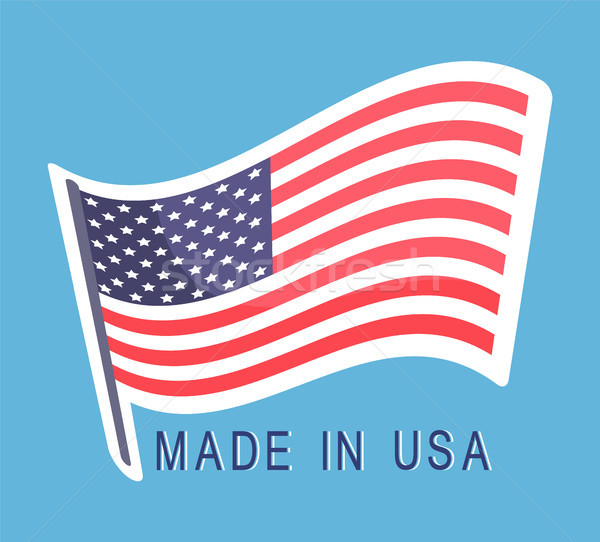 USA vlag embleem tekst origineel amerikaanse Stockfoto © robuart
