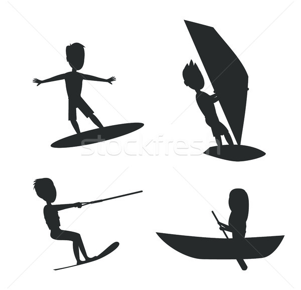 Summer Set of Silhouettes Vector Illustration Stock photo © robuart
