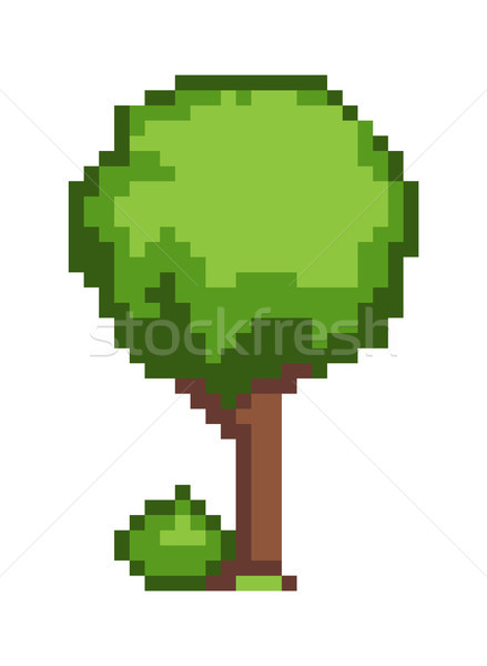 Pixel Tree Colorful Banner, Vector Illustration Stock photo © robuart
