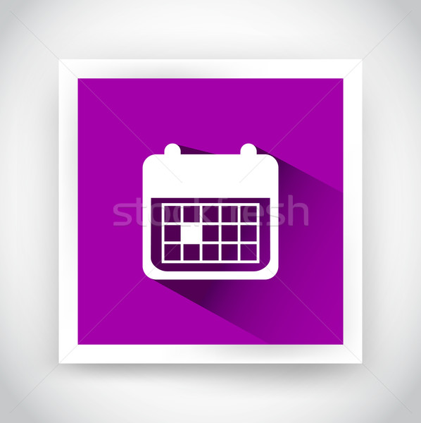 Icon of calendar for web and mobile applications Stock photo © robuart