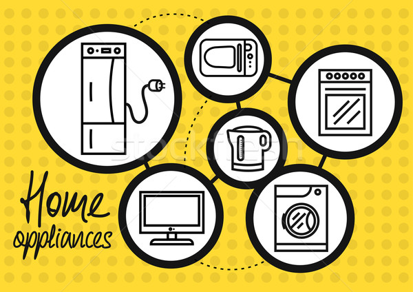 домашнее хозяйство прибор домой кухне холодильнике Сток-фото © robuart