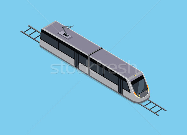 Photo stock: Isométrique · illustration · métro · train · vecteur · véhicules
