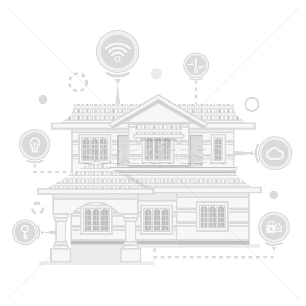 Smart Home and Control Device Stock photo © robuart