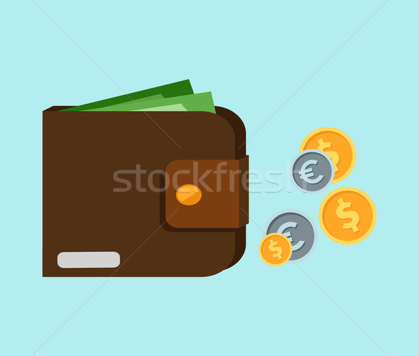 Wallet with Card and Cash Stock photo © robuart