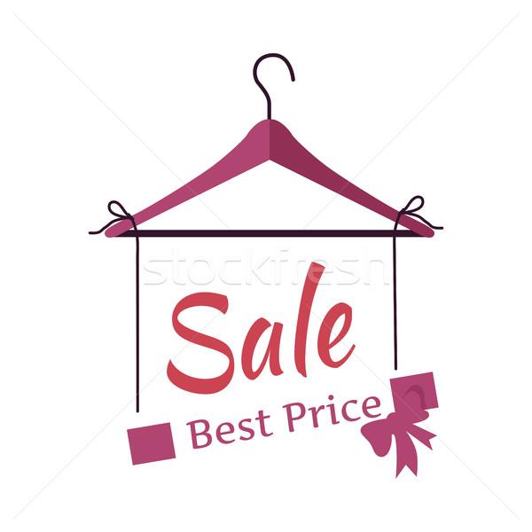 Beste prijs verkoop banner modieus kleding vector Stockfoto © robuart