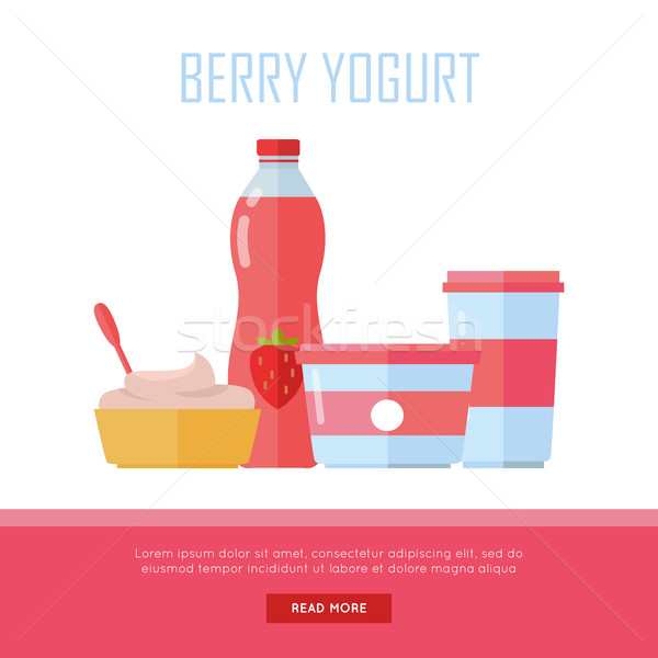 Berry Yogurt, Dairy Products from Milk Stock photo © robuart