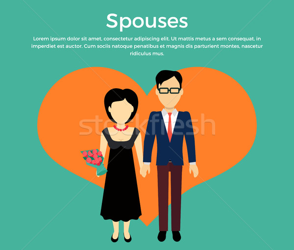 Spouses Concept Vector in Flat Design Stock photo © robuart