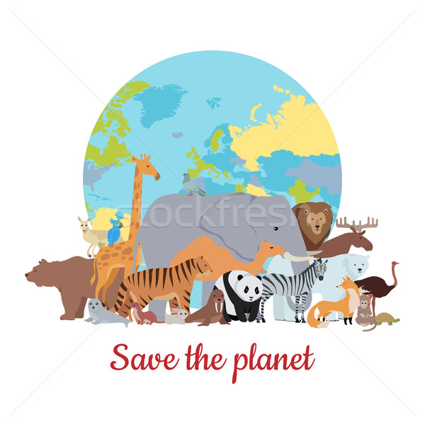 Save the Planet Baner Stock photo © robuart