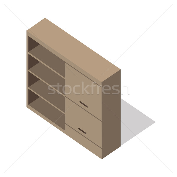 Isometric Wooden Cupboard Stock photo © robuart