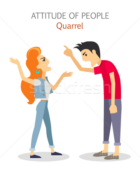Attitude of People. Quarrel. Choleric Temperament Stock photo © robuart