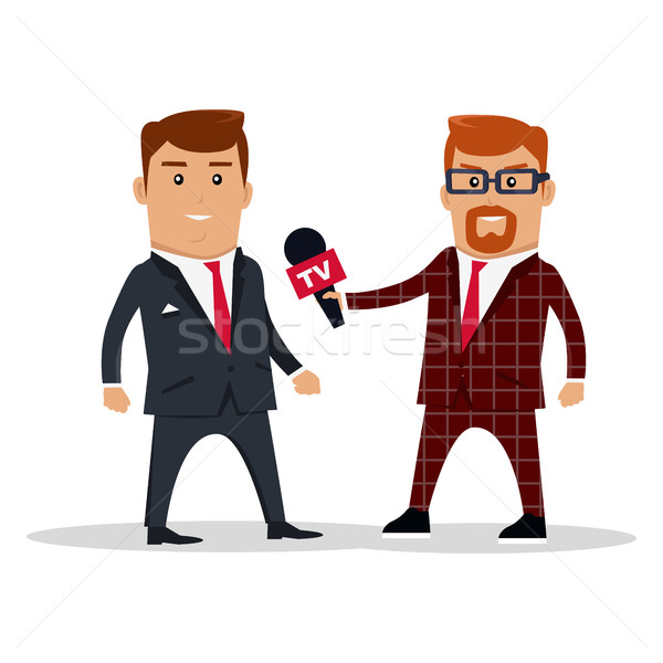 Interview on TV Concept Vector Illustration Stock photo © robuart