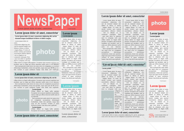Two Newspaper Pages Vector Illustration on White Stock photo © robuart