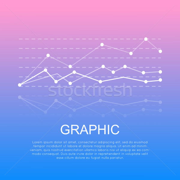 Graphic with Curve Lines Isolated with Information Stock photo © robuart