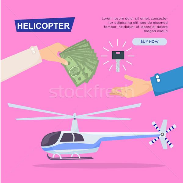 Compra nuevos helicóptero línea web banner Foto stock © robuart