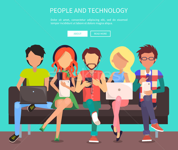 People and Technology Banner Vector Illustration. Stock photo © robuart