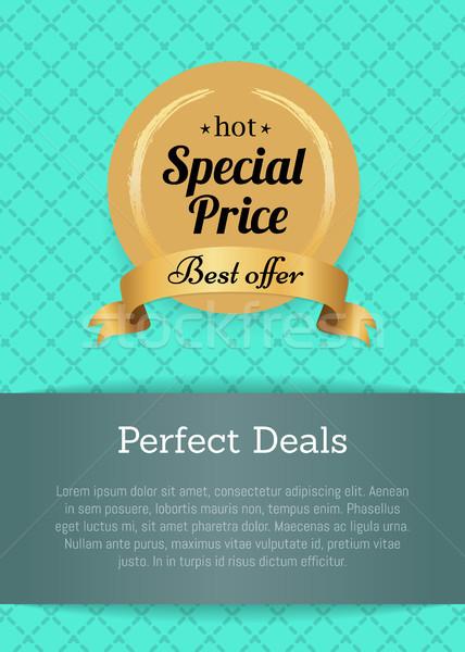 Tökéletes akciók különleges legjobb ajánlat forró Stock fotó © robuart