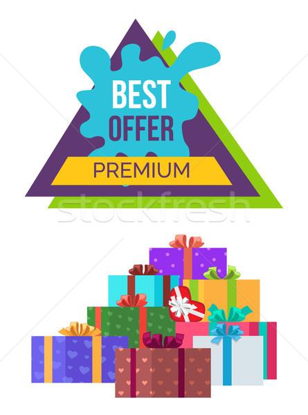 Best bieden premie banner verkoop poster Stockfoto © robuart