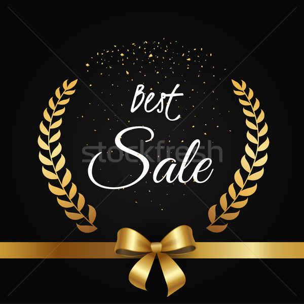 Best Sale Poster with Gold Olive Branches Framing Stock photo © robuart