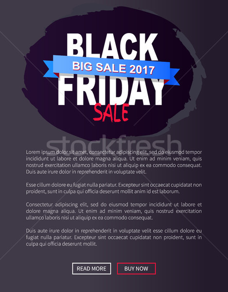 Black Friday Sale Promo Poster with Advert Info Stock photo © robuart