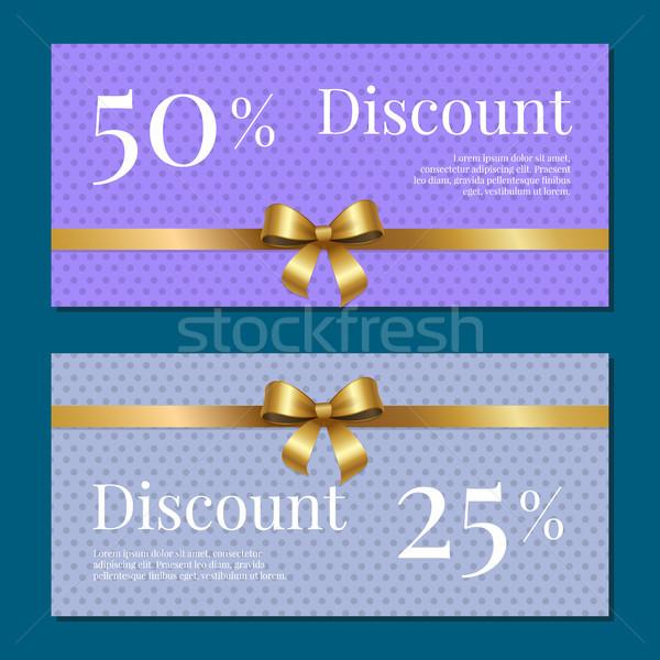 скидка 50 На 25 процент набор плакатов Сток-фото © robuart