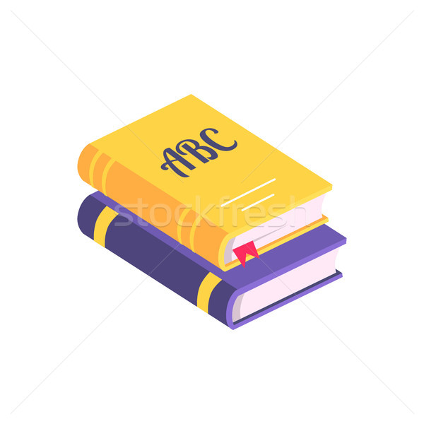 Colorful Books with Bookmark Vector Illustration Stock photo © robuart