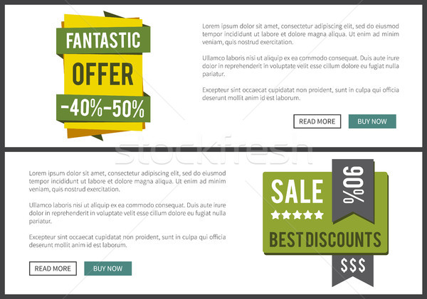 Fantastic Offer and Sale Best Vector Illustration Stock photo © robuart