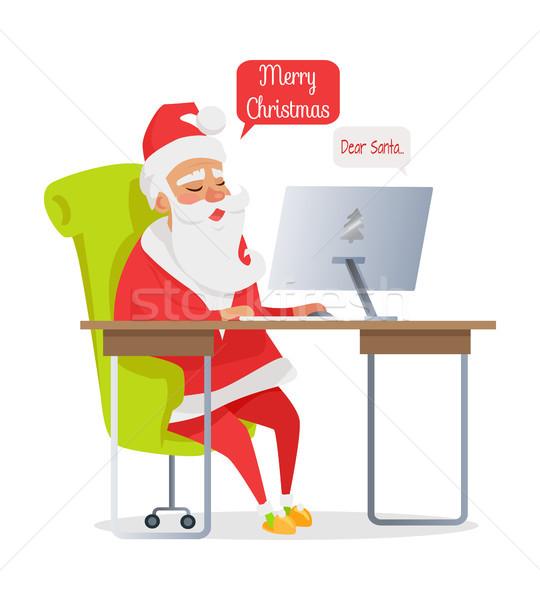 Vrolijk christmas banner mail geïsoleerd Stockfoto © robuart
