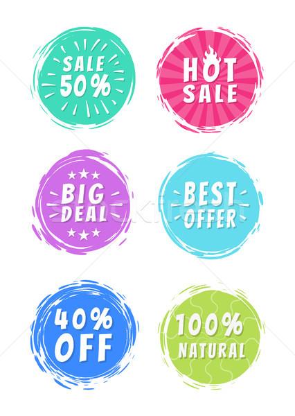Venda 50 promo adesivos Foto stock © robuart