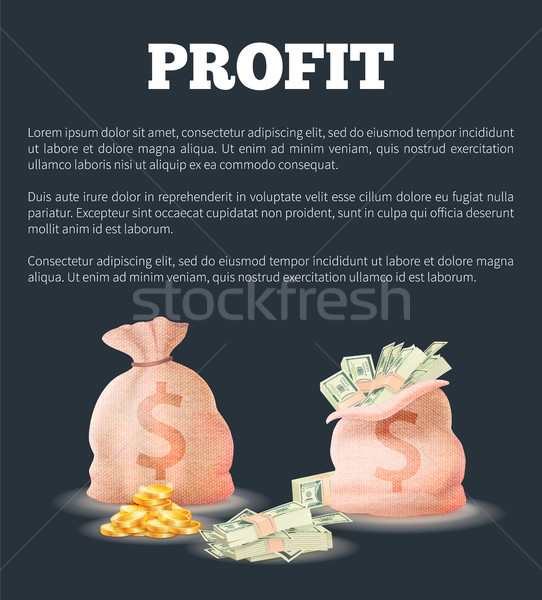 Profit Sacks Full of Money Vector Illustration Bag Stock photo © robuart