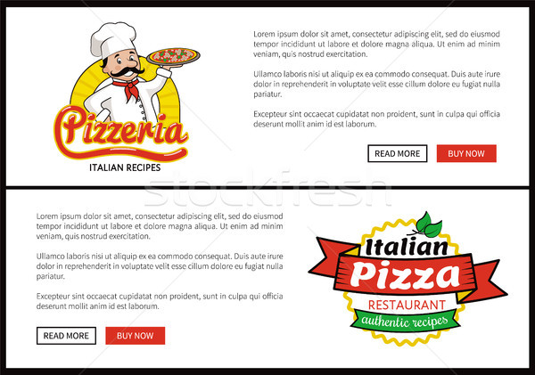 Pizzeria and Italian Pizza Vector Illustration Stock photo © robuart