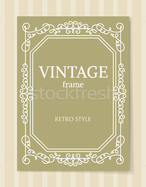 Vintage Frame Retro Baroque Style Curved Border Stock photo © robuart