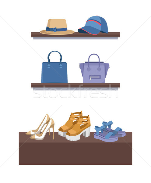Summer Mode Shelves Poster Vector Illustration Stock photo © robuart
