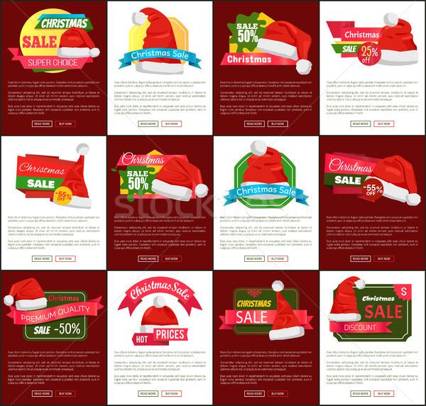 Dodici Natale vendita metà prezzo promo Foto d'archivio © robuart
