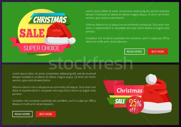 Zdjęcia stock: Zestaw · christmas · plakaty · wakacje · sprzedaży
