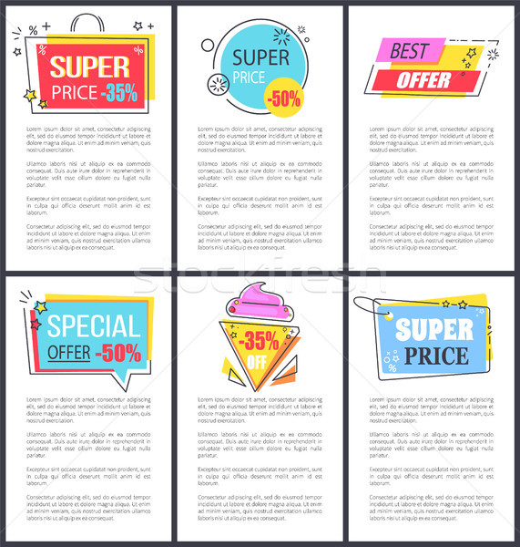 Special Offer and Super Price Vector Illustration Stock photo © robuart