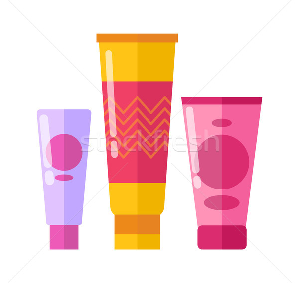 Tubes with Creams, Poster Vector Illustration Stock photo © robuart