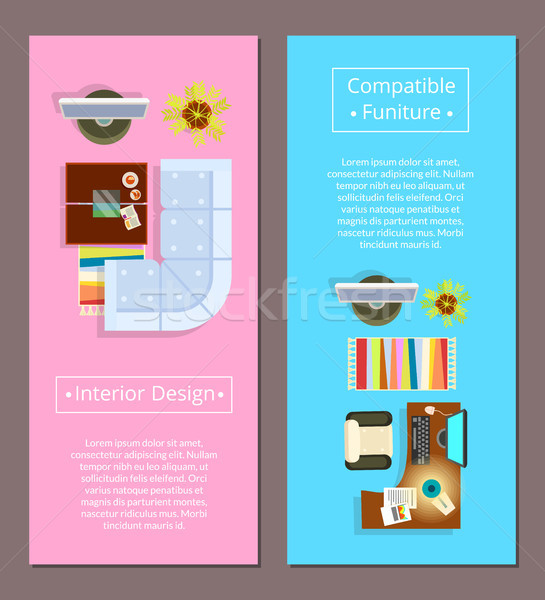Interior Design with Compatible Furniture Poster Stock photo © robuart