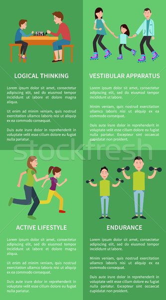 Logical Thinking Active Lifestyle Posters Family Stock photo © robuart