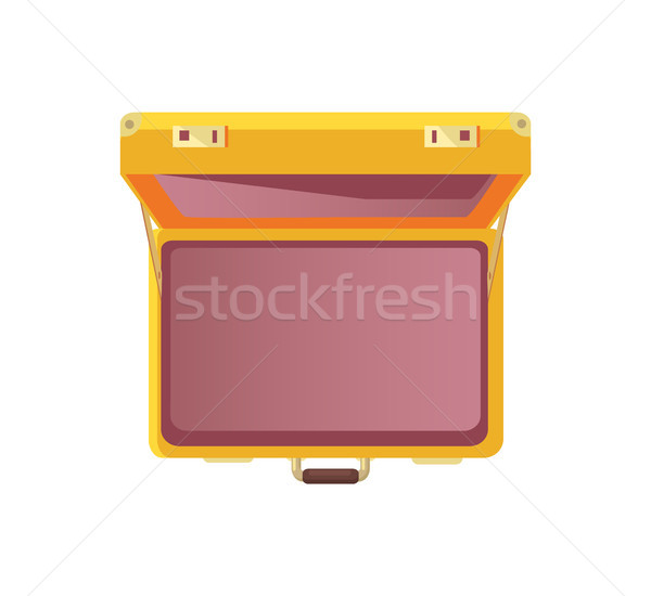 Open Suitcase Empty Bag Top View Vector Icon Stock photo © robuart