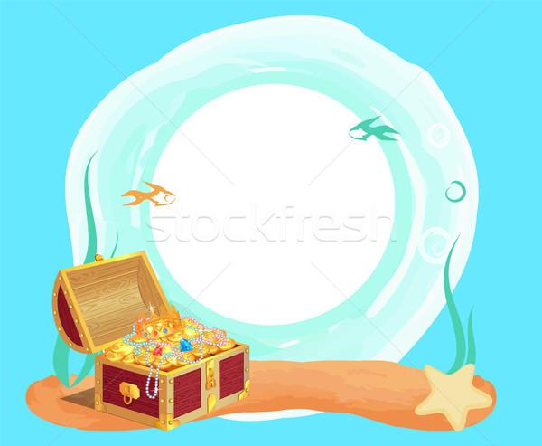 Ancient Royal Treasures in Old Chest at Sea Bottom Stock photo © robuart