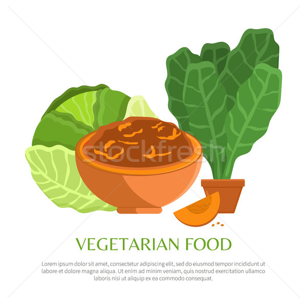 Vegetarian Food, Colorful Vector Illustration Stock photo © robuart